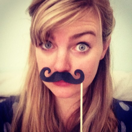 I moustache you a question (this piece of swag came from The Happy Wedding Company, who make props and whatnot)