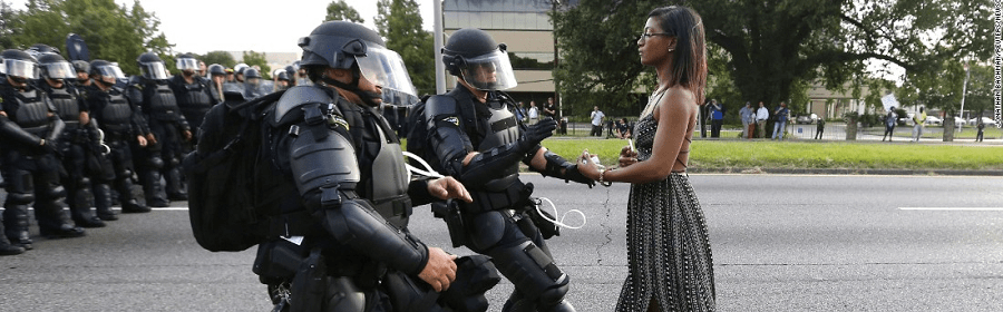 peaceful protest and civic bravery