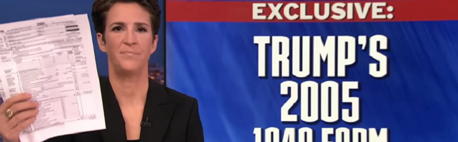 Rachel Maddow, Trump's 2005 tax returns and investigative reporting