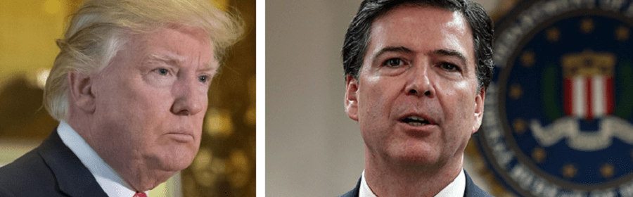 Donald Trump and James Comey spar over the Russia investigation