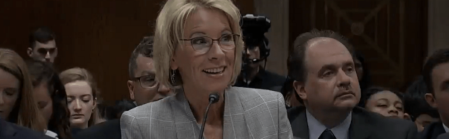 "Betsy DeVos ""Refuses To Affirm"" Protection for LGBTQ Students"