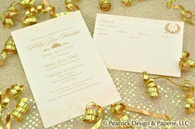 Wedding And Bridal Shower Invitations Favors Recipe Cardore Pea Design Paperie Invitation Graphic Services Printing