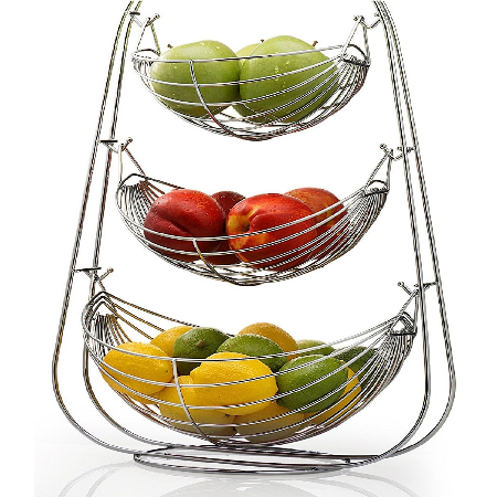 kitchen accesories cabinet corner protectors peacock revera accessories home appliances 3 tier swing fruit basket