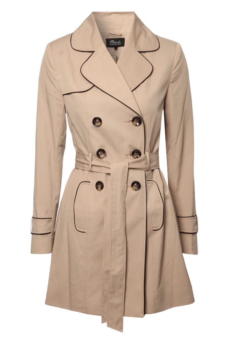 Womens Belted Button Up Mac Coats Amp Jackets Womens