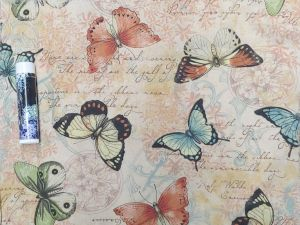 pastel butterflies on vintavge paper