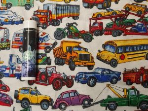 multicolor trucks, cars, and buses
