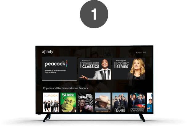 Step 1: Open the Peacock app on Xfinity Flex or X1.