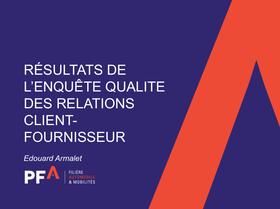 Enquête Qualité Relations Clients-Fournisseurs: Vers un outil de pilotage de l'amélioration ?
