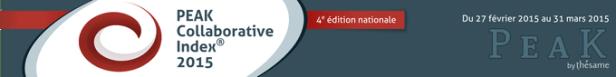 Peak Collaborative Index 2015 - 4e édition nationale - du 27/02/2015 au 31/03/2015