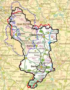 Peak District map background