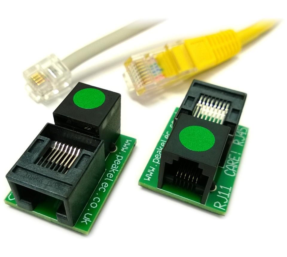 hight resolution of rja11 pair of rj11 rj45 adapters