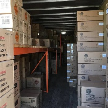 Fireworks stored in secure storage facility