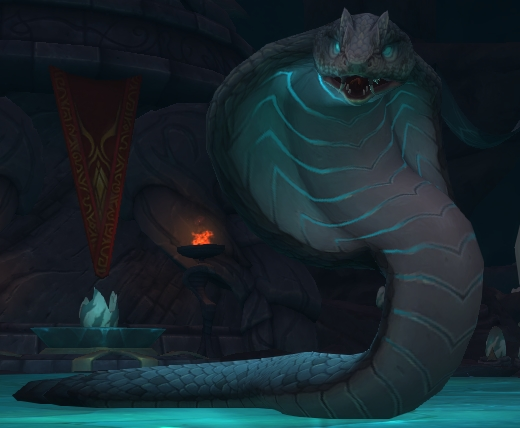 Merektha's boss model in the Temple of Sethraliss