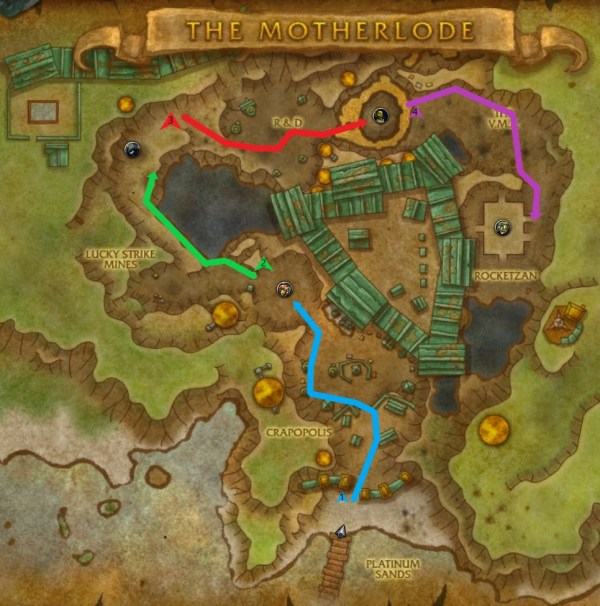 A route through the MOTHERLODE dungeon