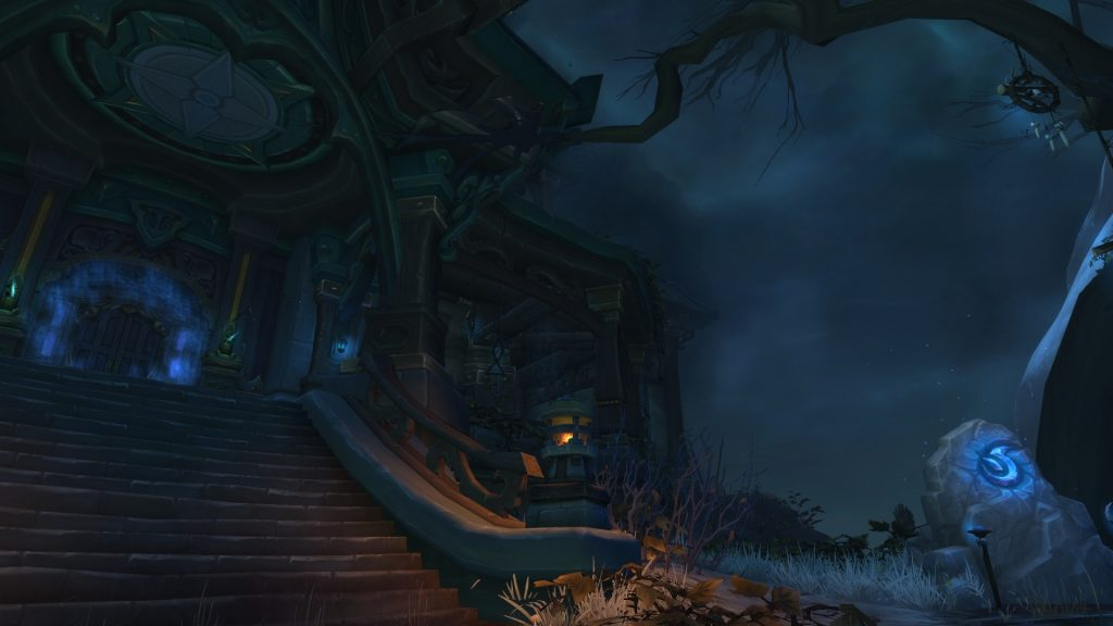 The entrance to Waycrest Manor