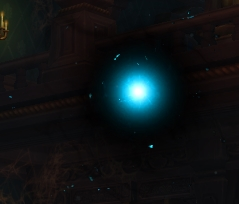an orb signifying a witch spawn in Waycrest Manor