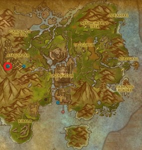 The location of King's Rest on the world map