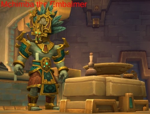 Mchimba the Embalmer's boss model in King's Rest