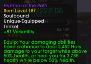 A trinket's tooltip in Patch 9.0