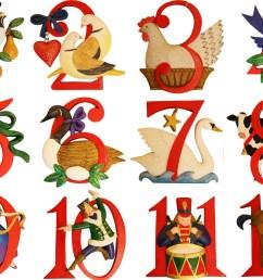 the twelve days of christmas [ 1500 x 1097 Pixel ]