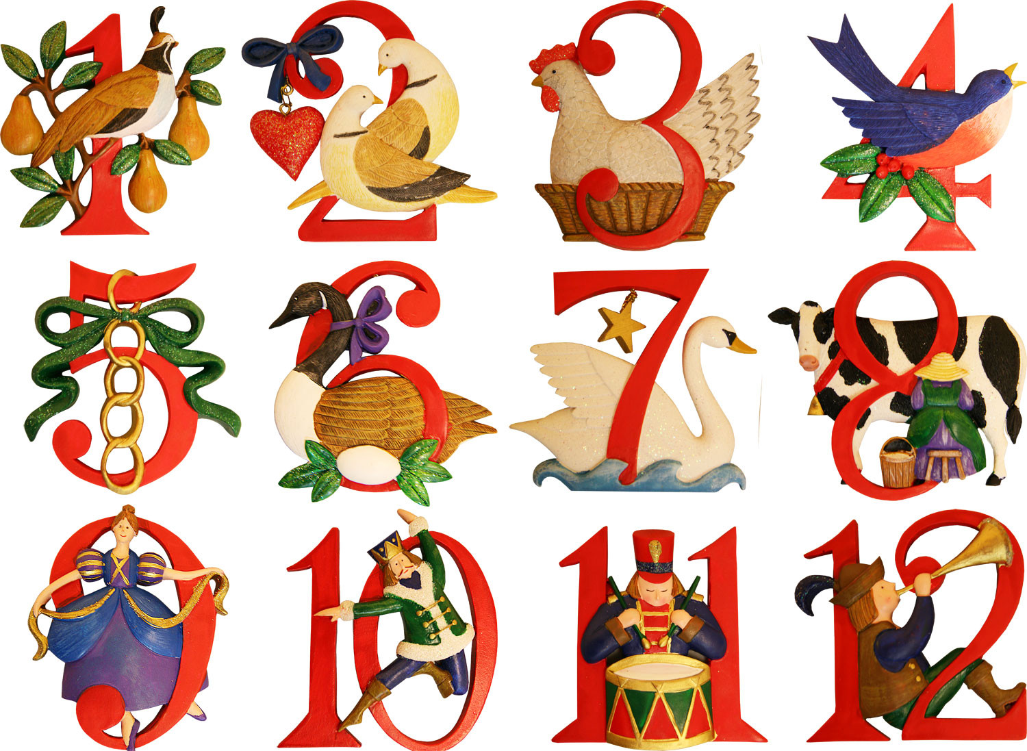 hight resolution of the twelve days of christmas