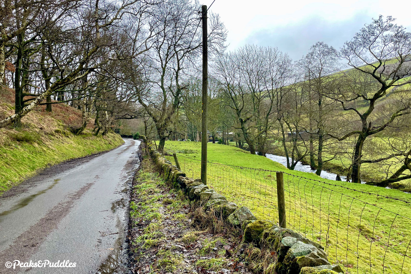 At certain points, you can still make out a flattened indent in the bank beside the river, where the Kinder Reservoir Railway briefly ran.