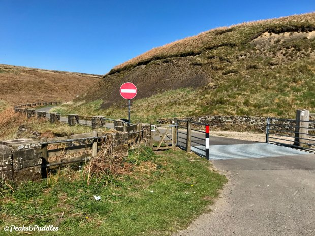 No way back: the one-way traffic regulation order imposed since 1980 has (legally, at least) blocked a vital cycle link back from the Peak District for over 40 years.