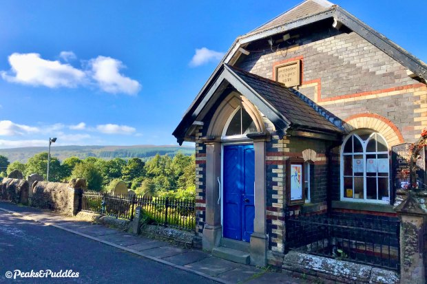 The 1871 Fernilee Chapel has an enviable position overlooking the upper Goyt Valley and its forests.
