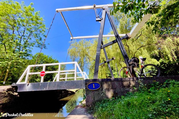 Number 1! But in typical canal whimsy, Stanley (Dukinfield) Lift Bridge is not the first, nor the last, bridge on the Peak Forest Canal.