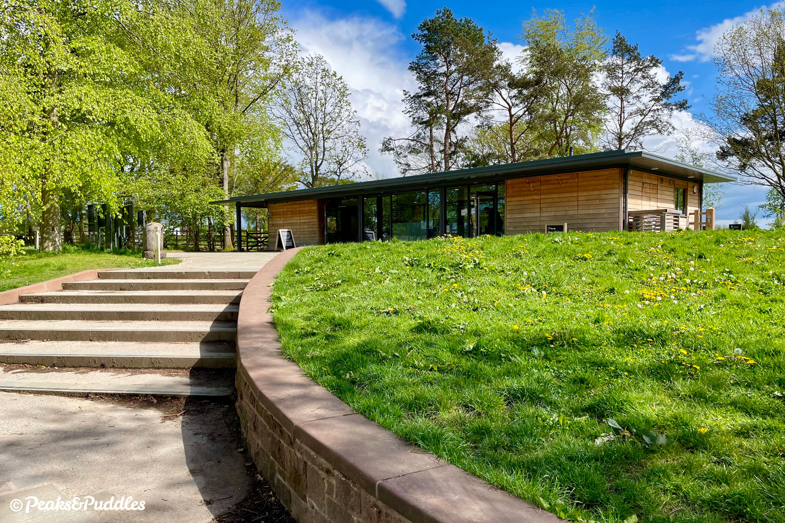 The National Trust recently invested in a new visitor welcome building and expanded car park at Quarry Bank, perhaps in anticipation of new visitors arriving along the A555. Buck the trend and arrive by bike!