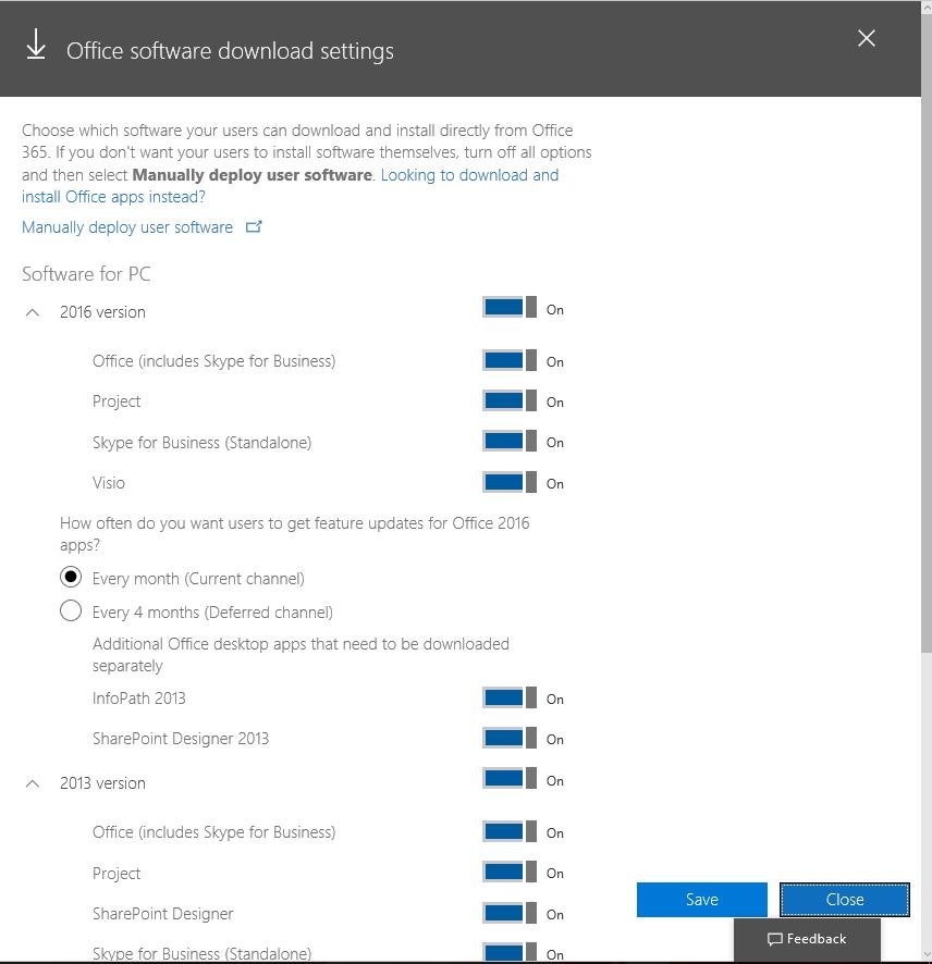 Son Kullanıcı için Office 365 Yazılım Yükleme Ayarları