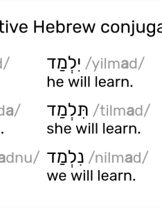 also hebrew conjugation tables rh pealim