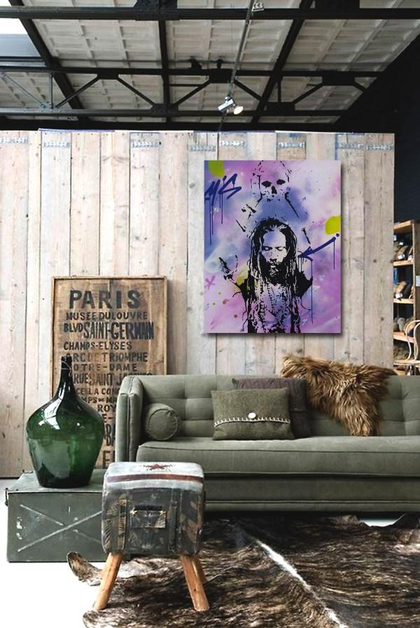 chamane est une peinture streetart par peam's streetartiste et artiste urbain
