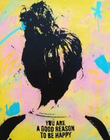 happy est une peinture streetart par peam's streetartiste et artiste urbain