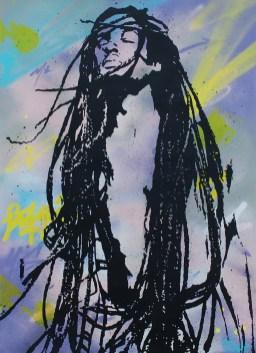 l'homme libre est une peinture streetart par peam's streetartiste et artiste urbain