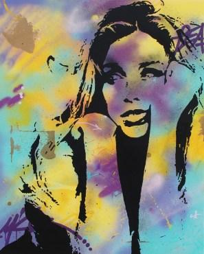 tête en l'air est une peinture streetart par peam's streetartiste et artiste urbain