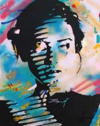 la clandestine est une peinture streetart par peam's streetartiste et artiste urbain