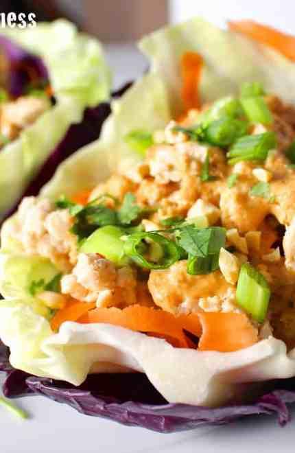 Protein Style Thai Turkey Wraps