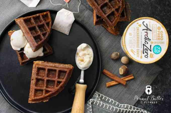 Dirty Chai Ice Cream Waffle Sandwiches
