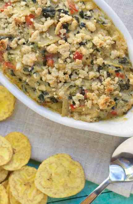 Paleo Spinach and Artichoke Crab Dip