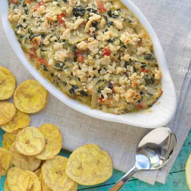 Paleo Spinach and Artichoke Crab Dip