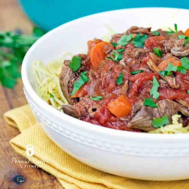 Short Rib Ragu with Spaghetti Squash