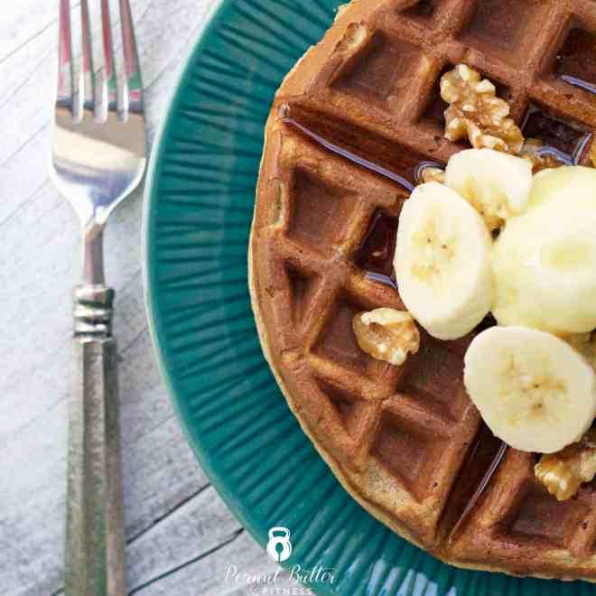 Banana Bread Protein Waffles