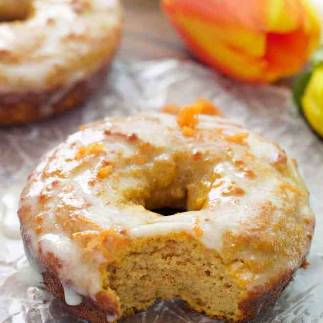 Glazed Carrot Cake Protein Donuts