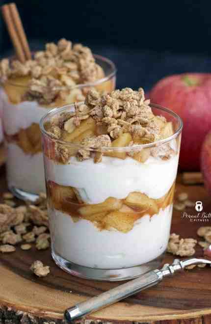 Apple Cinnamon Greek Yogurt Parfait with Granola