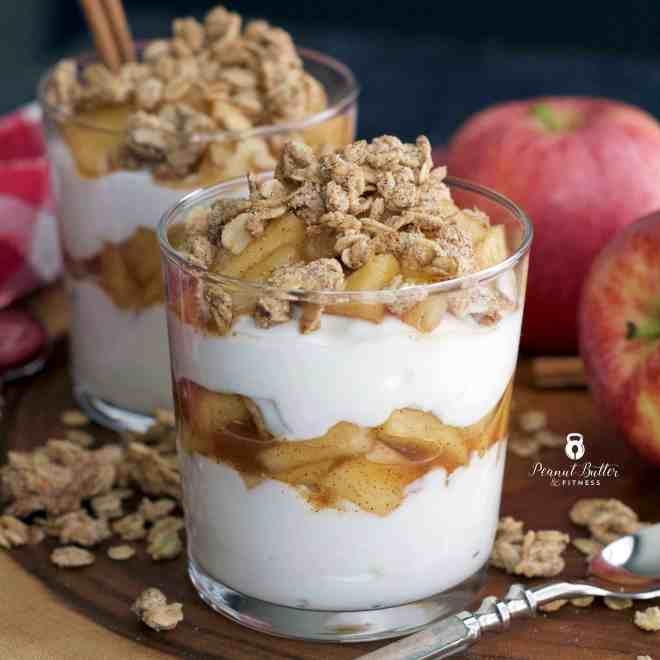 Apple Cinnamon Greek Yogurt Parfait with Granola