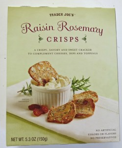 Raisin Rosemary Crisps