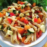 Apricot Pasta Salad / Fruit & Vegetable storage chart