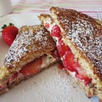Stuffed Strawberry and Cheese French Toast