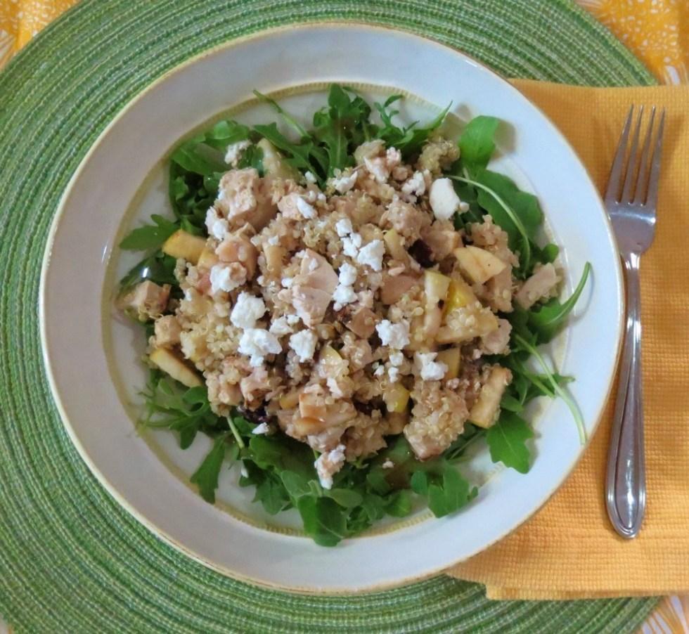 Apple and Cranberry Quinoa Salad